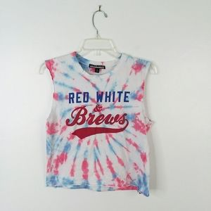 PRINCE PETER JULY 4 holiday muscle crop top SMALL